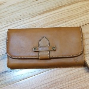 Frye Full Size Leather Wallet, light  brown